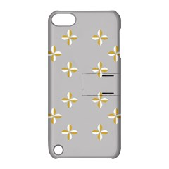 Syrface Flower Floral Gold White Space Star Apple Ipod Touch 5 Hardshell Case With Stand by Mariart