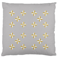 Syrface Flower Floral Gold White Space Star Large Flano Cushion Case (two Sides) by Mariart