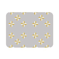 Syrface Flower Floral Gold White Space Star Double Sided Flano Blanket (mini)  by Mariart