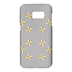 Syrface Flower Floral Gold White Space Star Samsung Galaxy S7 Hardshell Case  by Mariart