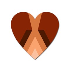 Volcano Lava Gender Magma Flags Line Brown Heart Magnet by Mariart