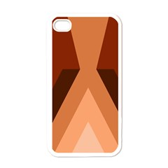 Volcano Lava Gender Magma Flags Line Brown Apple Iphone 4 Case (white) by Mariart