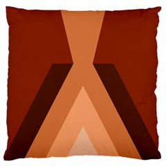 Volcano Lava Gender Magma Flags Line Brown Large Cushion Case (two Sides) by Mariart