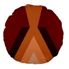 Volcano Lava Gender Magma Flags Line Brown Large 18  Premium Round Cushions by Mariart