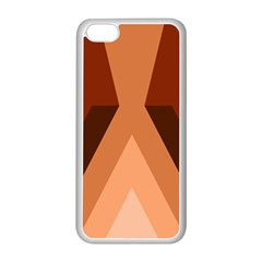 Volcano Lava Gender Magma Flags Line Brown Apple Iphone 5c Seamless Case (white) by Mariart