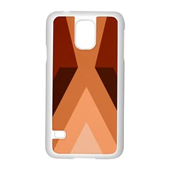 Volcano Lava Gender Magma Flags Line Brown Samsung Galaxy S5 Case (white) by Mariart
