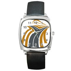 Transparent All Road Tours Bus Charter Street Square Metal Watch by Mariart