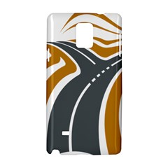 Transparent All Road Tours Bus Charter Street Samsung Galaxy Note 4 Hardshell Case by Mariart