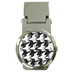 Swan Black Animals Fly Money Clip Watches by Mariart