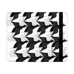 Swan Black Animals Fly Samsung Galaxy Tab Pro 8 4  Flip Case by Mariart