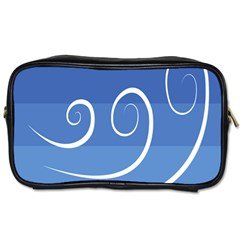 Ventigender Flags Wave Waves Chevron Leaf Blue White Toiletries Bags 2 Side by Mariart