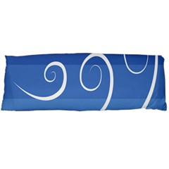 Ventigender Flags Wave Waves Chevron Leaf Blue White Body Pillow Case Dakimakura (two Sides) by Mariart