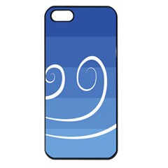 Ventigender Flags Wave Waves Chevron Leaf Blue White Apple Iphone 5 Seamless Case (black) by Mariart