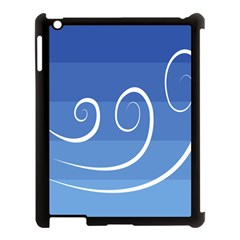 Ventigender Flags Wave Waves Chevron Leaf Blue White Apple Ipad 3/4 Case (black) by Mariart