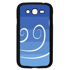 Ventigender Flags Wave Waves Chevron Leaf Blue White Samsung Galaxy Grand Duos I9082 Case (black) by Mariart