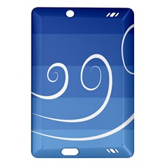 Ventigender Flags Wave Waves Chevron Leaf Blue White Amazon Kindle Fire Hd (2013) Hardshell Case by Mariart