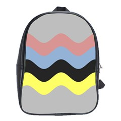 Wave Waves Chevron Sea Beach Rainbow School Bags(large)  by Mariart