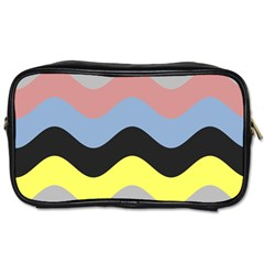 Wave Waves Chevron Sea Beach Rainbow Toiletries Bags 2 Side by Mariart