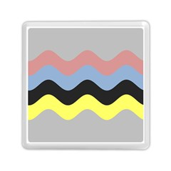 Wave Waves Chevron Sea Beach Rainbow Memory Card Reader (square)  by Mariart