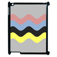 Wave Waves Chevron Sea Beach Rainbow Apple Ipad 2 Case (black) by Mariart