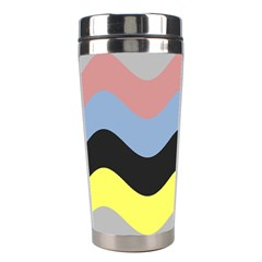 Wave Waves Chevron Sea Beach Rainbow Stainless Steel Travel Tumblers by Mariart
