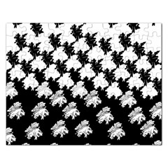 Transforming Escher Tessellations Full Page Dragon Black Animals Rectangular Jigsaw Puzzl by Mariart