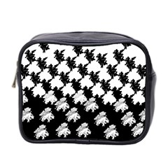 Transforming Escher Tessellations Full Page Dragon Black Animals Mini Toiletries Bag 2 Side by Mariart
