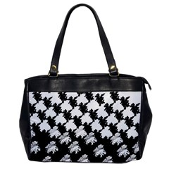 Transforming Escher Tessellations Full Page Dragon Black Animals Office Handbags by Mariart