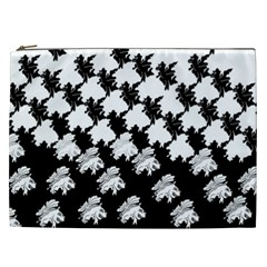 Transforming Escher Tessellations Full Page Dragon Black Animals Cosmetic Bag (xxl)  by Mariart