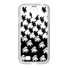 Transforming Escher Tessellations Full Page Dragon Black Animals Samsung Galaxy S4 I9500/ I9505 Case (white) by Mariart