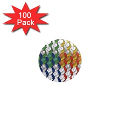Rainbow Fish 1  Mini Magnets (100 pack)  by Mariart