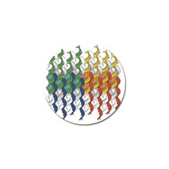 Rainbow Fish Golf Ball Marker by Mariart