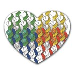 Rainbow Fish Heart Mousepads Front