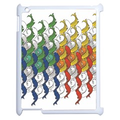 Rainbow Fish Apple Ipad 2 Case (white) by Mariart