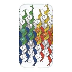 Rainbow Fish Samsung Galaxy S4 I9500/i9505 Hardshell Case by Mariart