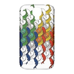 Rainbow Fish Samsung Galaxy S4 Classic Hardshell Case (pc+silicone) by Mariart