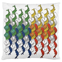 Rainbow Fish Standard Flano Cushion Case (one Side) by Mariart
