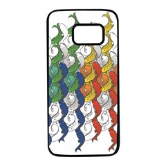 Rainbow Fish Samsung Galaxy S7 Black Seamless Case