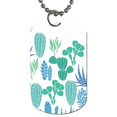 Green Leave Dog Tag (one Sided) by pushu