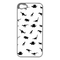 Dinosaurs Pattern Apple Iphone 5 Case (silver) by Valentinaart