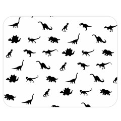 Dinosaurs Pattern Double Sided Flano Blanket (medium)  by Valentinaart