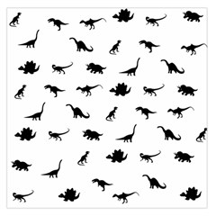 Dinosaurs Pattern Large Satin Scarf (square) by Valentinaart
