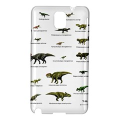 Dinosaurs Names Samsung Galaxy Note 3 N9005 Hardshell Case by Valentinaart