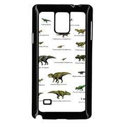 Dinosaurs Names Samsung Galaxy Note 4 Case (black) by Valentinaart
