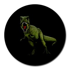 Dinosaurs T Rex Round Mousepads by Valentinaart