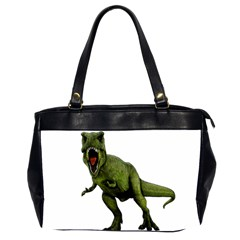 Dinosaurs T Rex Office Handbags (2 Sides)  by Valentinaart