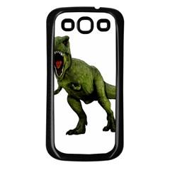 Dinosaurs T Rex Samsung Galaxy S3 Back Case (black) by Valentinaart