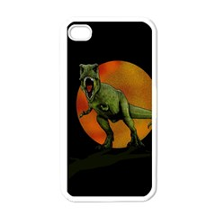 Dinosaurs T Rex Apple Iphone 4 Case (white) by Valentinaart