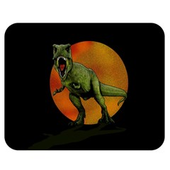 Dinosaurs T Rex Double Sided Flano Blanket (medium)  by Valentinaart