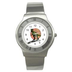 Dinosaurs T Rex Stainless Steel Watch by Valentinaart
